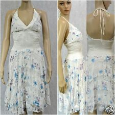 **VA VA VOOM** Lace Angel Floral Chiffon Dress Sexy Halter S 8 10 M 12 L 14 16