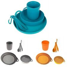 Sea to Summit Delta Camping Dinner Set Plate Mug Bowl & Cutlery - Choice Colours