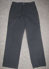 NEW! Levi's DOCKERS D2 Pinstripe KHAKI Straight Fit Flat Front PANTS 32 32 Black