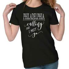 Philadelphia, PA is Calling I Must Go Home City  Ladies T-Shirt
