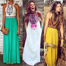Womens Sleeveless Boho Long Maxi Dress Evening Cocktail Party Prom Beach Dresses