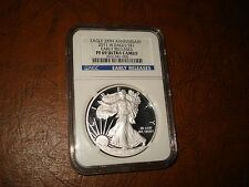 2011 W SILVER EAGLE $1.00 COIN,EARLY RELEASE, 25TH ANN,  PF 69 ULTRA CAMEO NGC