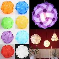 30Pcs DIY Modern IQ Puzzle Jigsaw Light Lamp Shade Ceiling Lampshade