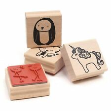 Dovecraft Wooden Rubber Stamps 4 Pack Different Designs Papercraft Scrapbook
