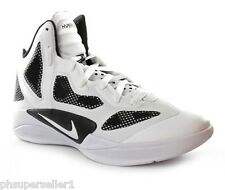 Nike Zoom Hyperfuse 2011 454146 100 white black basketball men shoes sz 8-13.5
