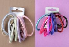 10 Mixed Shiny Hair Elastics Bands Berry Pastels Pink Purple Black & More