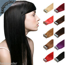 Grade7A Seamless Super Tape In Skin Weft Remy Human Hair Extensions 16''18''20''