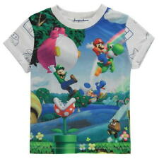 BOYS KIDS CHILDRENS NINTENDO SUPER MARIO BROS WII U GAME T-SHIRT SHIRT TOP