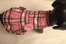 pink and Brown Plaid Small Dog Dress by I See Spot