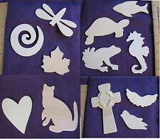 Assorted NEW Unfinished Wood Cut Outs (Shapes, Believe, Faith, Star) YOU CHOOSE!