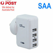 4 Ports USB Wall AC Charger Adapter for IPAD iPhone 4 5 6 Plus Samsung AU Plug