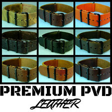 LEATHER PREMIUM PVD MILITARY DIVER ZULU DIVE WATCH BAND STRAP 18mm/20mm/22mm