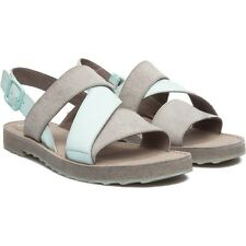 Camper Womens Shoes Pimpom Sandals Grey/silver/navy Blue