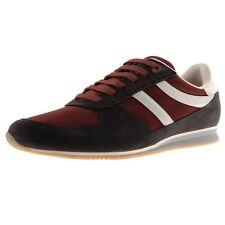 Hugo Boss Mens Adinous Lace Up Casual Walking Fashion Sneakers Medium Red