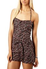 Ladies Floral Summer Playsuit Ditsy Flower Print Cool Cotton