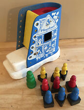 Playskool Lace Up Shoe Boot Vintage Wooden Toy Mid Century 1950s-60s 10 Blocks