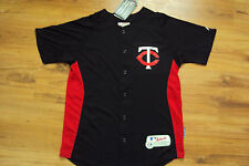 JOE MAUER MINNESOTA TWINS NEW MLB MAJESTIC AUTHENTIC COOL BASE KIDS JERSEY