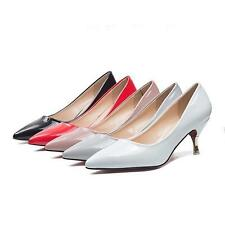Womens Fashion Pointed Toe Pumps Kitten Heels OL Office Work Lady Shoes