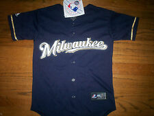 MILWAUKEE BREWERS NEW MLB MAJESTIC OFFICIAL KIDS JERSEY
