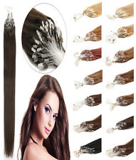 UK Ship Brazilian Remy Human Hair Extensions Loop Micro Ring Bead Tip 18''-20''