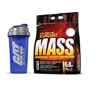 Mutant Mass Muscle Gainer Strawberry Banana 15 lbs with FREE BOTTLE