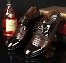 Stylish Mens Casual lace up wedding office Oxford Dress formal Shoes black brown