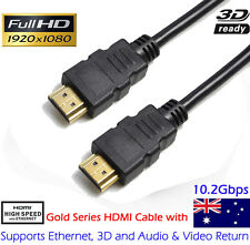 Premium HDMI Cable 1080P HD Gold Plated 3D High Speed Audio Video Ethernet 3M AU