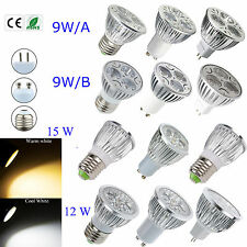 10 X Cree / Epistar LED Bulb 9W 12W 15W MR16 E27 GU10 Lamp Warm Cool White Light