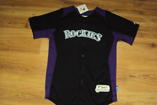 COLORADO ROCKIES NEW MLB MAJESTIC AUTHENTIC COOL BASE KIDS JERSEY