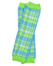 Safari Plaid Leg Warmers Newborn Infant and Baby Toddler Sizes Boy Green Blue