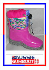 Childrens Gumboots / Snow Boots Warm Fleecy Made in Italy Wellies Toddlers Kids
