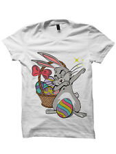 EASTER BUNNY SHIRT DABBIN EASTER BUNNY T-SHIRT LADIES TOPS MENS TEES EASTER GIFT