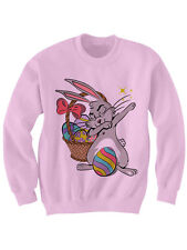 EASTER BUNNY SWEATER DABBIN EASTER BUNNY SWEATSHIRT EASTER BASKET GIFTS FUNNY