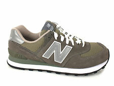 NEW BALANCE 574 sneakers men LEATHER TEXTILE GRIGIO M574GS summer 2016
