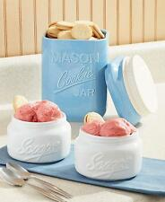 Mason Jar Sweet Kitchen Decor ~ Cookie Jar Canister or 2 Scoop Bowls Ice Cream