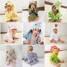 New Cute Animal Cartoon Baby Kids Hooded Bathrobe Toddler Boy Girls Bath Towel