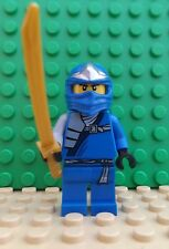 Brand New LEGO Ninjago Ninja Blue Jay ZX with Gold Sword Mini Figure Fig