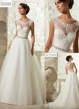 2016 New White/Ivory Wedding Dress Bridal Gown Stock size 4- 6-8-10-12-14-16-16W