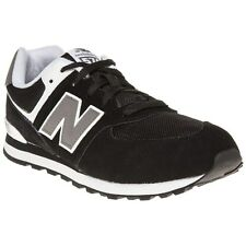 New Boys New Balance Black 574 Suede Trainers Retro Lace Up