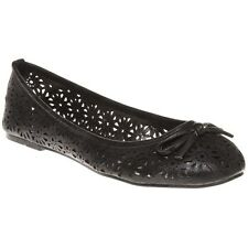 New Womens SOLE Black Melissa Synthetic Shoes Flats Slip On