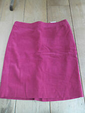 FRENCH CONNECTION RASPBERRY PINK CORDUROY NEEDLECORD CORD PENCIL SKIRT UK 8 BNWT