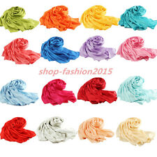 100% PURE SILK FABRIC Mulberry silk Fashion Women Pure color Long Scarf Shawls