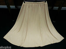 Ladies Casual Comfort Size 16/18  Pull On Flared Maxi Skirt 35L Beige Bnwt