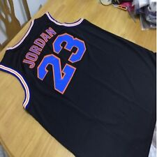 Michael Jordan Space Jam Jersey Black 23 Squad Tune Basketball Movie Shirt
