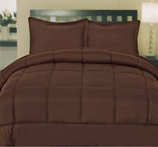 COMFORTER SETS 1000 TC PREMIUM EGYPTIAN COTTON  AVAILABLE ALL SIZE-CHOCOLATE