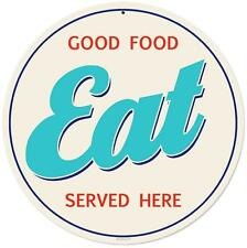 Vintage Retro Food Eat Here Metal Sign Unique Diner Kitchen Restaurant Decor RPC