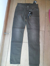 SISLEY STRETCH COTTON DENIM TROUSERS SKINNY SLIM JEANS WASHED BROWN 28 LIFT