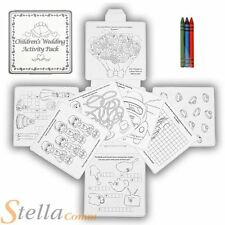 Childrens Wedding Activity Fun Drawing Colouring 16 Page Puzzle Pack & Crayons