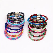 10PCS Magnetic/Lobster Clasps Silk Cord Bracelet Mixed Handmade Bangle Jewelry