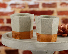 48 Copper & Concrete Tealight Candle Rustic Industrial Bridal Wedding Favor